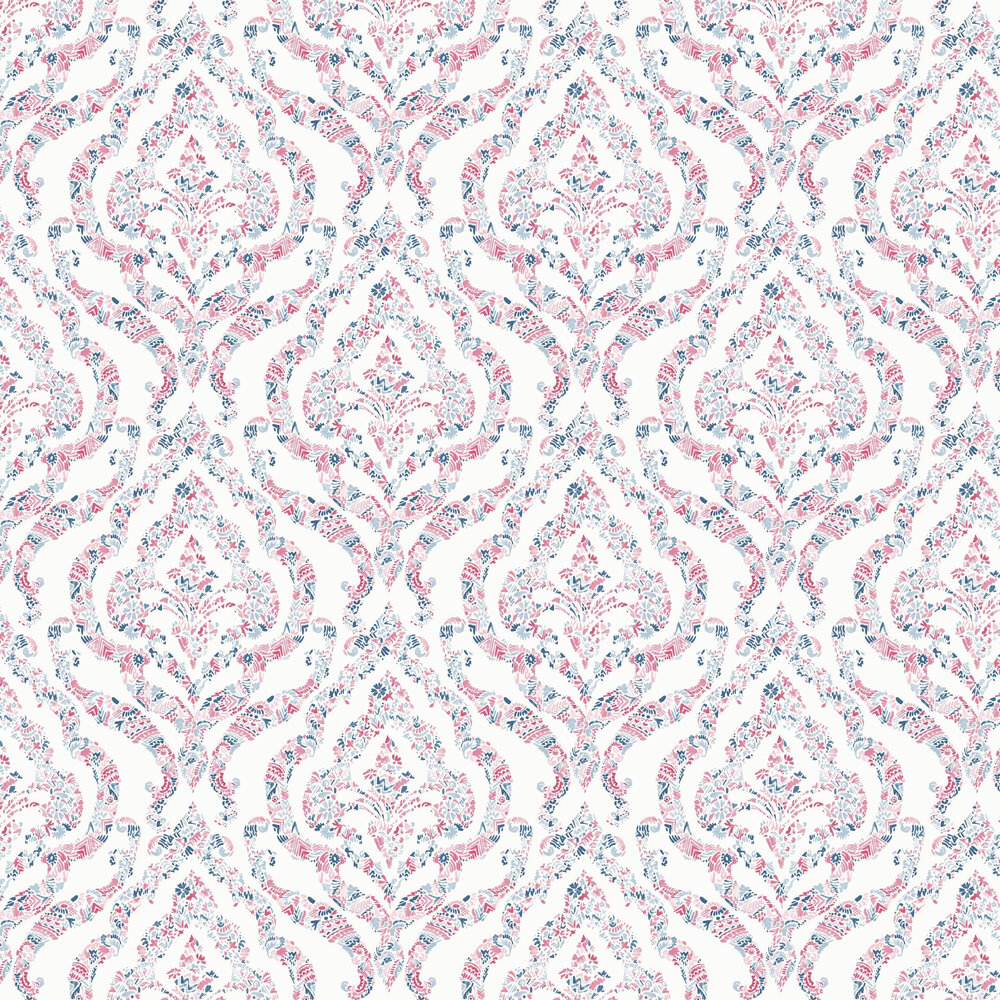 A Street Prints Featherton Red / Blue Wallpaper - Product code: FD25400