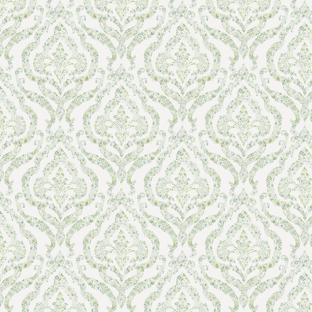 Featherton Wallpaper - Green / Blue - by A Street Prints