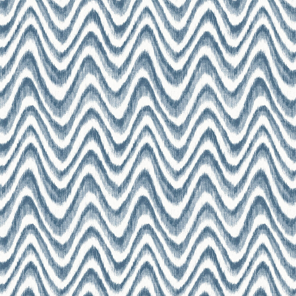 Bargello Wallpaper - Blue - by A Street Prints