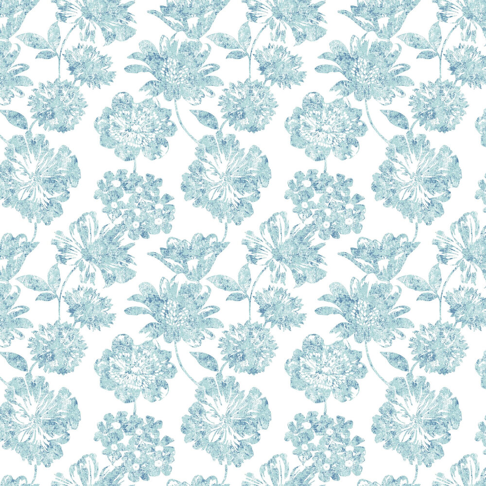 Folia Wallpaper - Blue - by A Street Prints