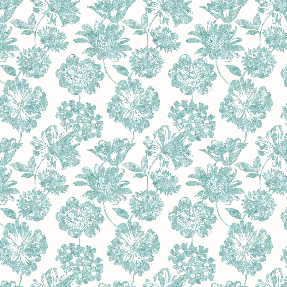 Folia Wallpaper - Teal - by A Street Prints