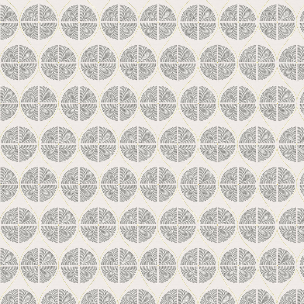 Luminary  Wallpaper - Grey / Yellow - by A Street Prints