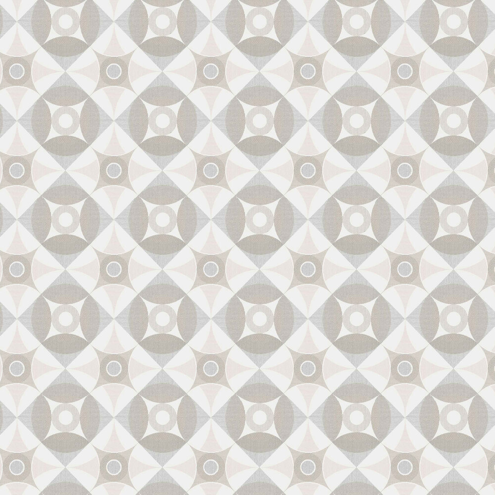 Ellis Wallpaper - Grey / Pink - by A Street Prints