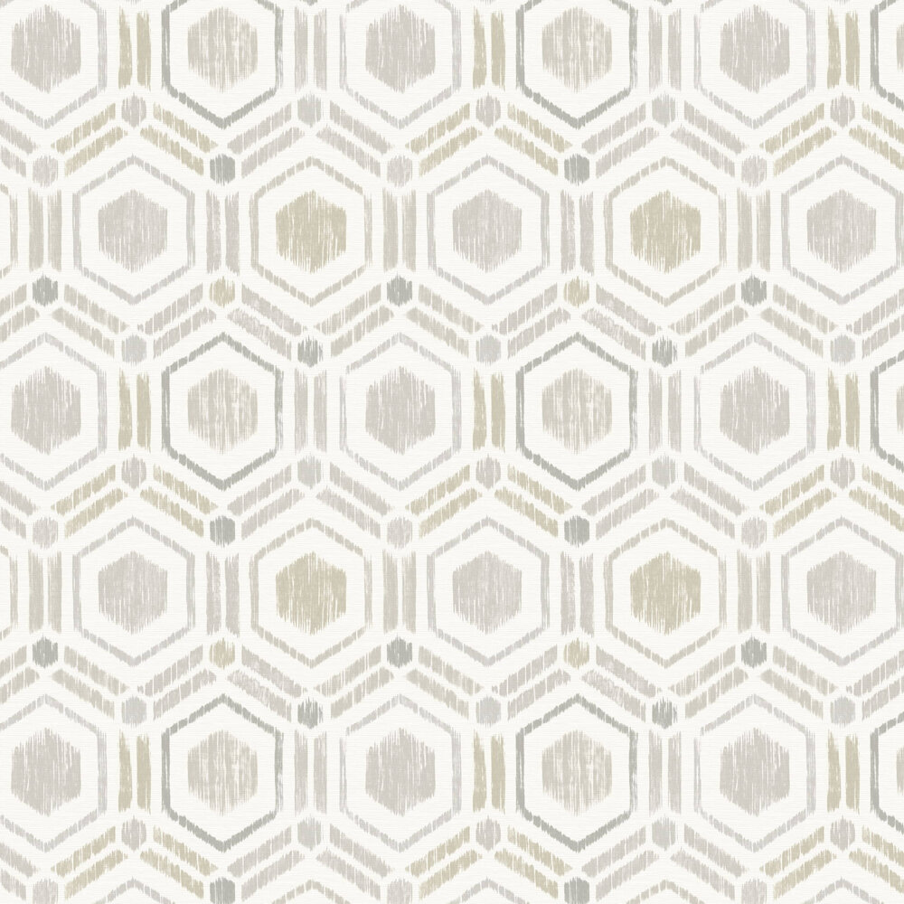 A Street Prints Borneo Light Grey / Natural Wallpaper - Product code: FD25434