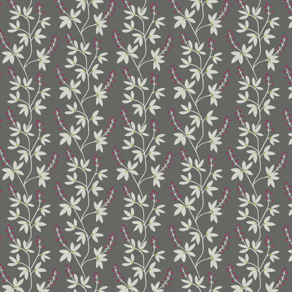 Linnea Wallpaper - Grey / Purple - by A Street Prints