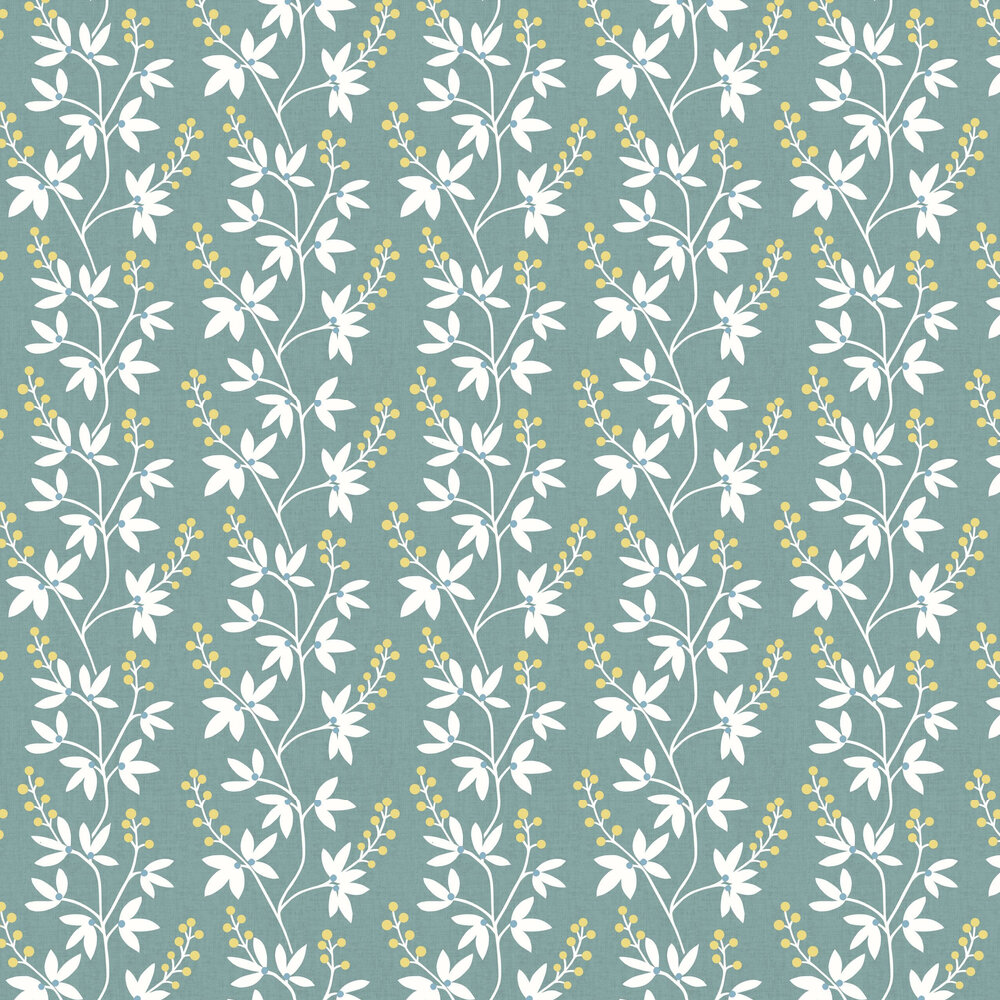 Linnea Wallpaper - Teal - by A Street Prints