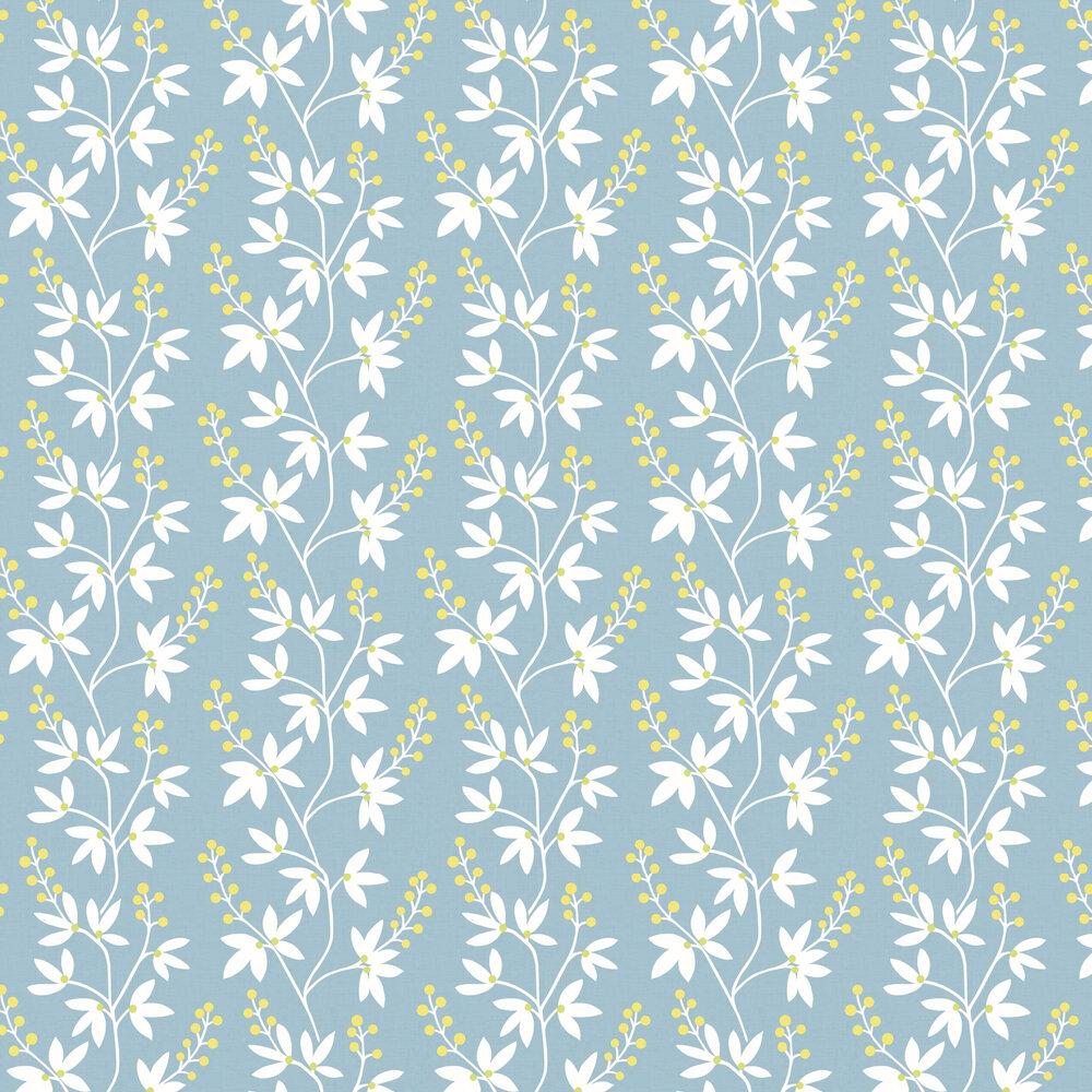 Linnea Wallpaper - Blue - by A Street Prints