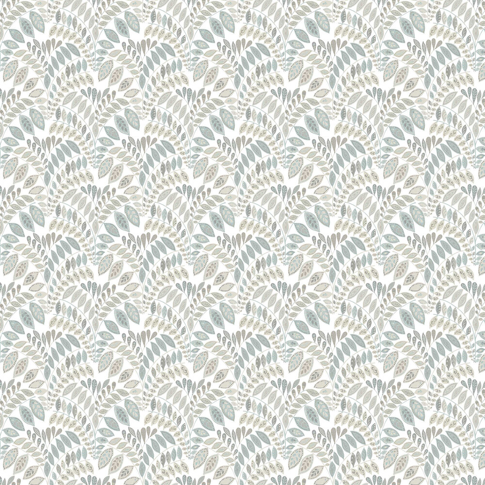 Fiddleheads Wallpaper - Grey / Blue - by A Street Prints