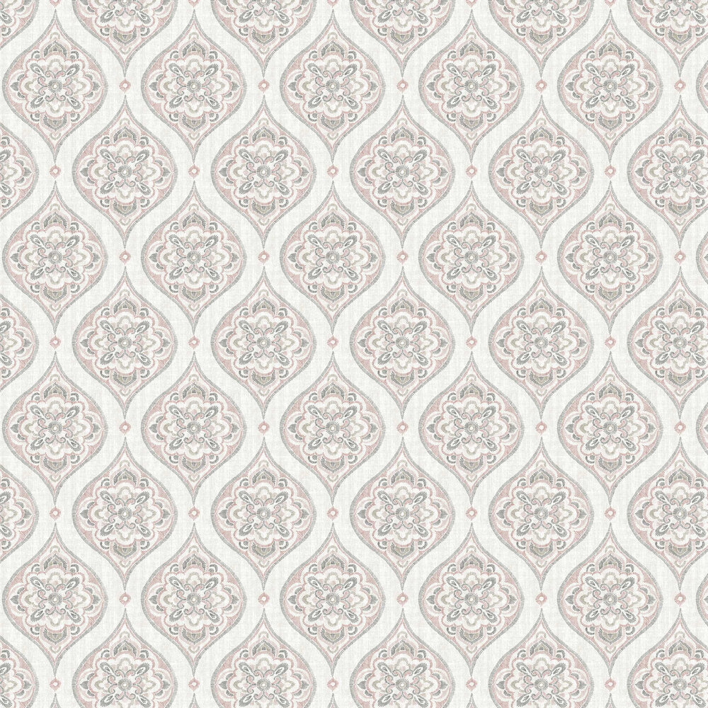 A Street Prints Adele Grey / Pink Wallpaper - Product code: FD25147