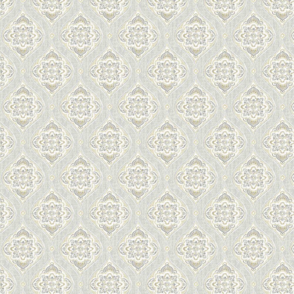 Adele Wallpaper - Grey / Beige - by A Street Prints