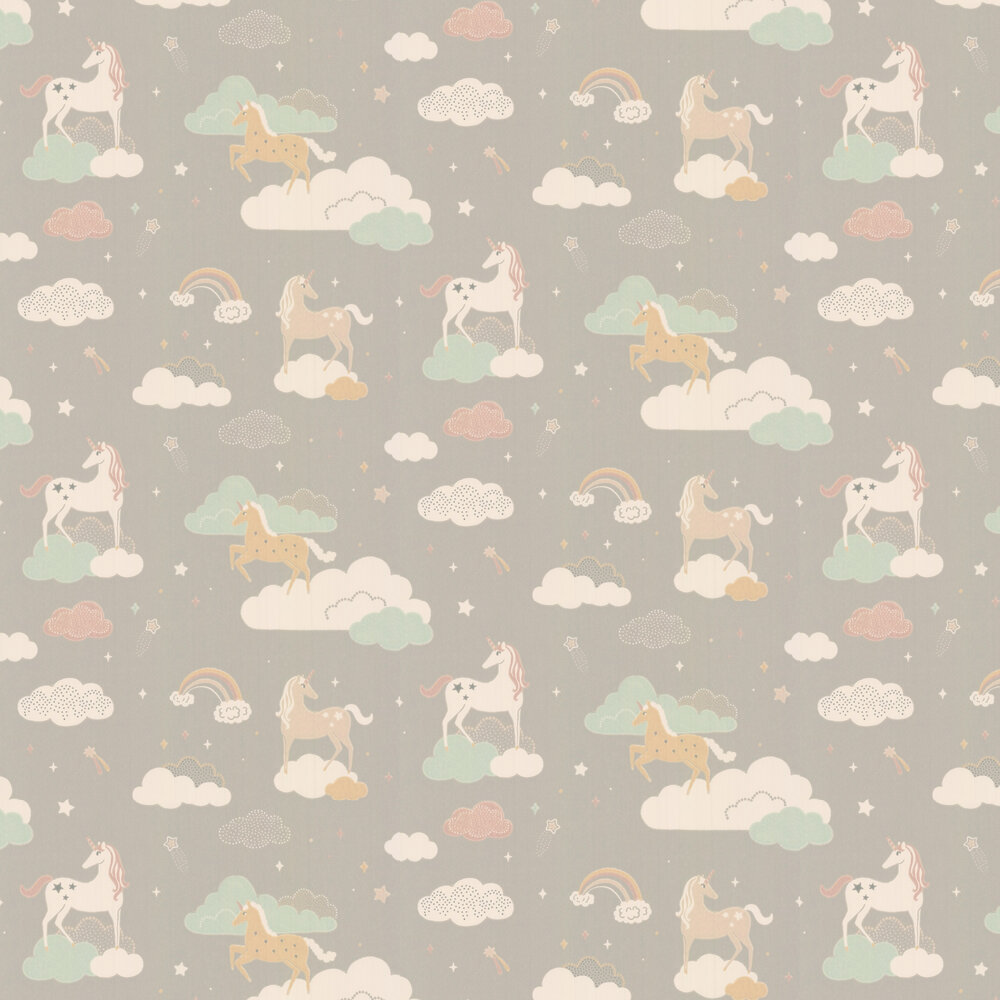 Majvillan Rainbow Treasures Mud Grey Wallpaper - Product code: 129-01