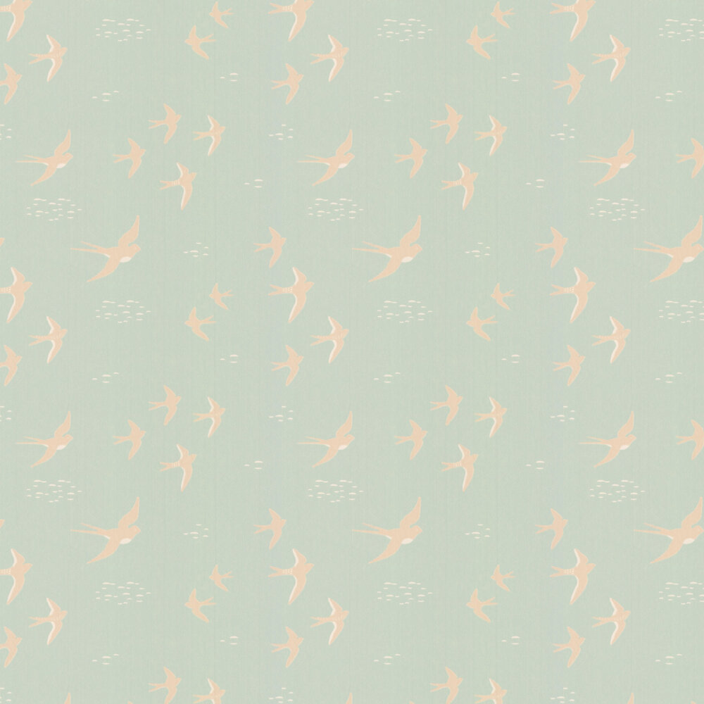 Majvillan Follow the Wind Dusty Turquoise Wallpaper - Product code: 130-02