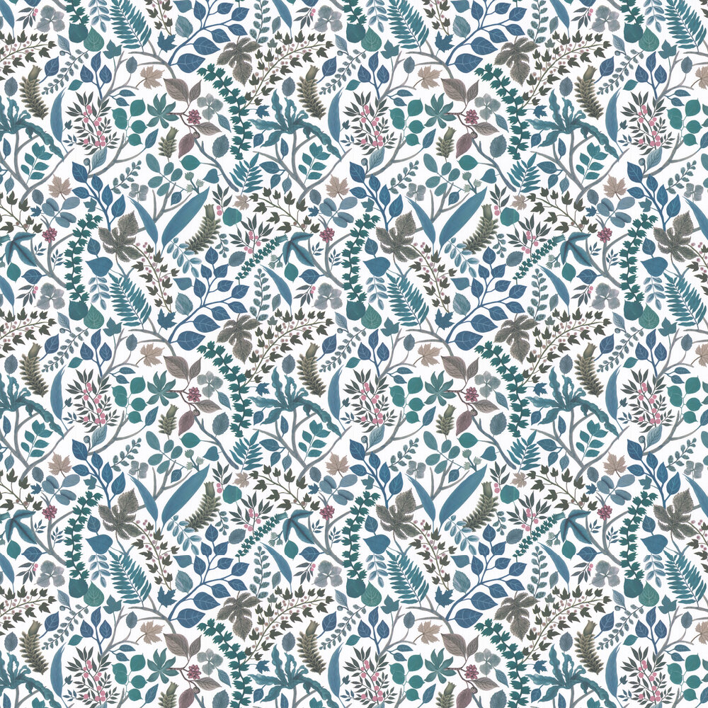 Cueillette Wallpaper - Blue/ White - by Christian Lacroix