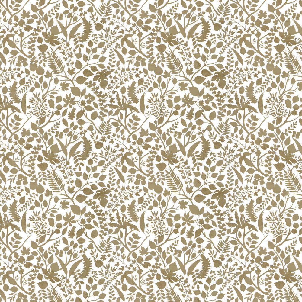 L'eden  Wallpaper - Gold/ White - by Christian Lacroix