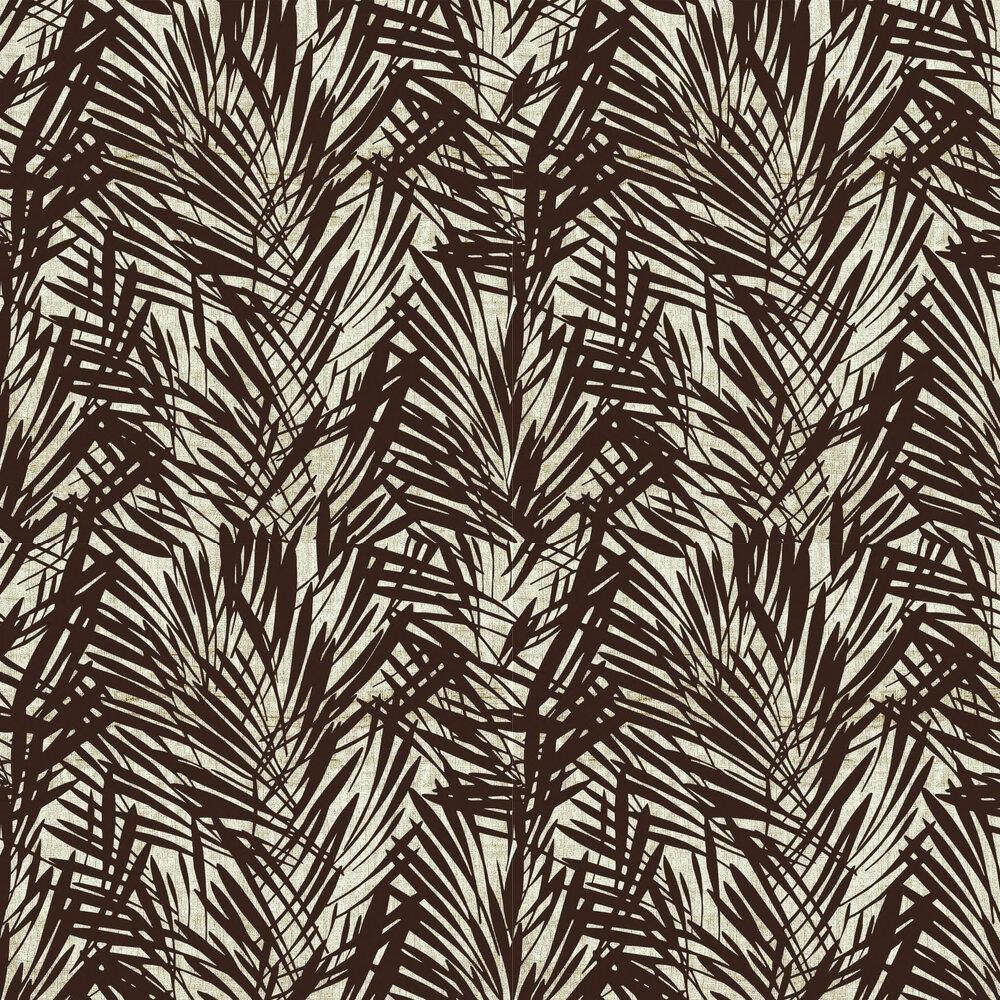 Palmeraie Wallpaper - Brown / Silver - by Lelievre