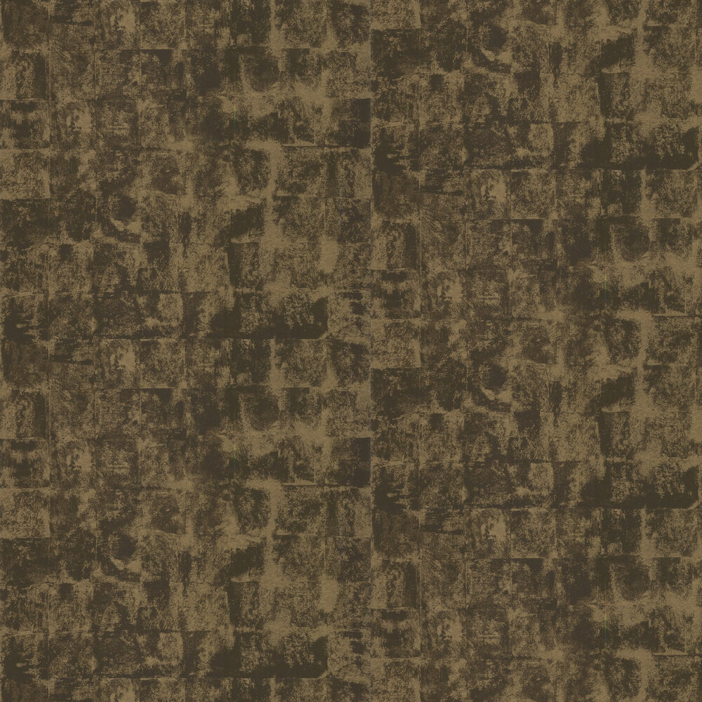 Patine Wallpaper - Brown / Gold - by Lelievre