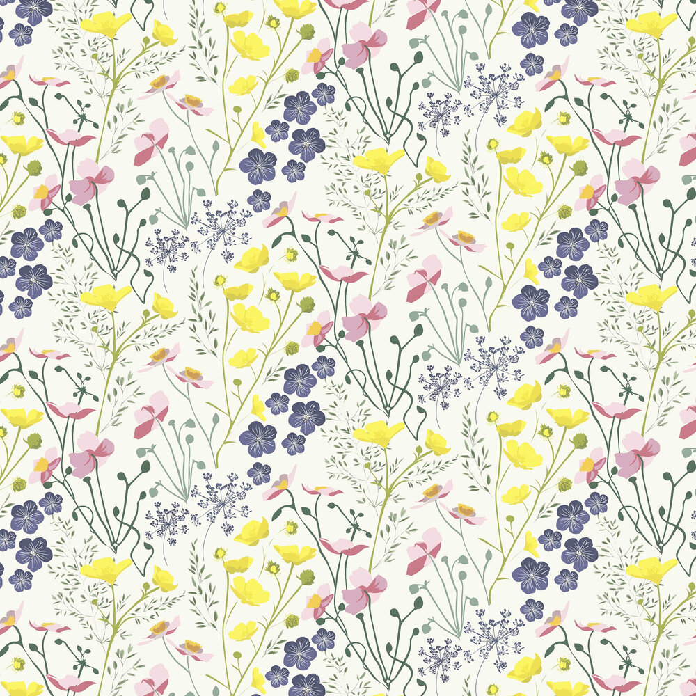 Meadow Wallpaper - Multi-coloured - by Lorna Syson