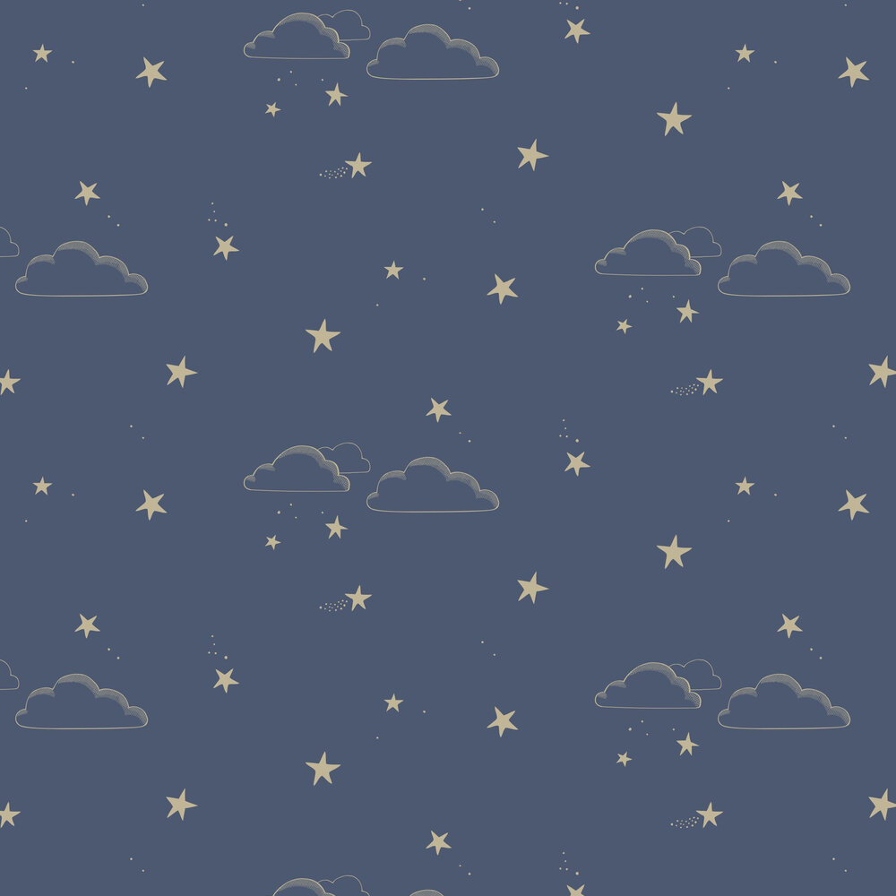 Hibou Home Starry Sky Indigo Wallpaper - Product code: HH01203