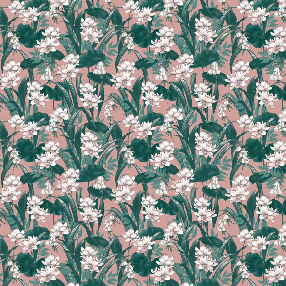 Celeste Wallpaper - Blush / Green - by Accessorize