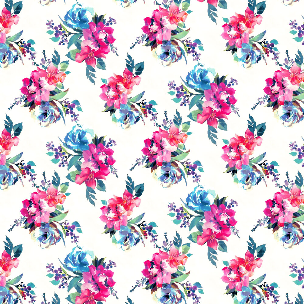 Amelie Wallpaper - Multi Coloured - by Accessorize