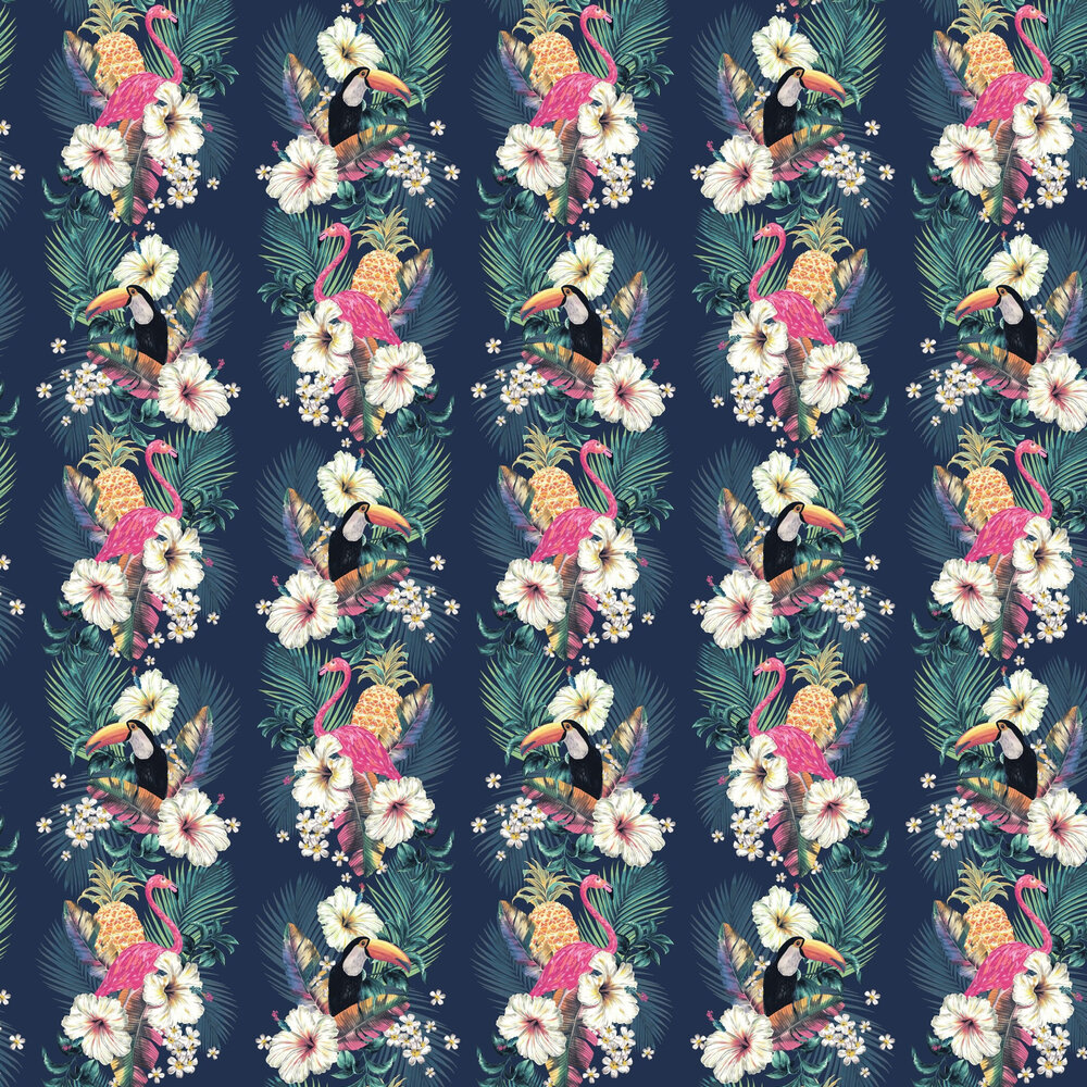 Maui Wallpaper - Ink Blue - by Accessorize