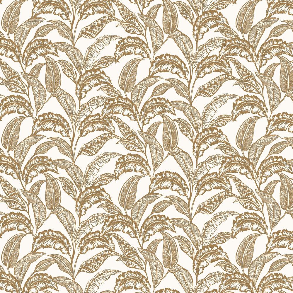 Mozambique Wallpaper - Cream / Gold - by Accessorize