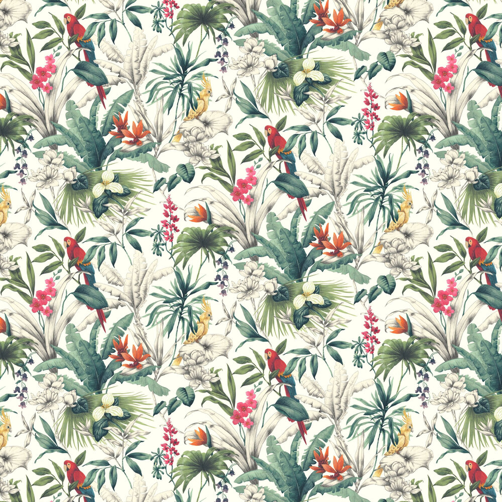 Bird of Paradise Wallpaper - Multi Coloured - by Accessorize