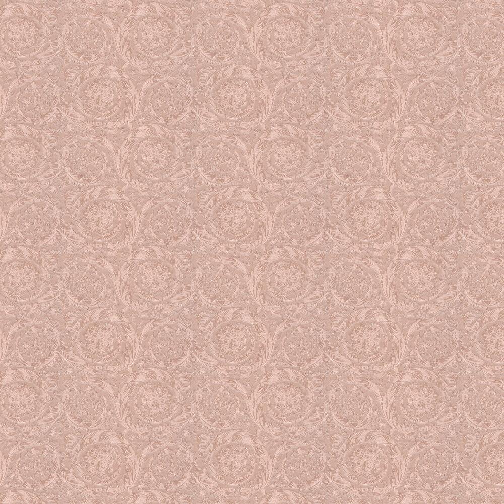 Barocco Metallics Wallpaper - Rose Pink - by Versace