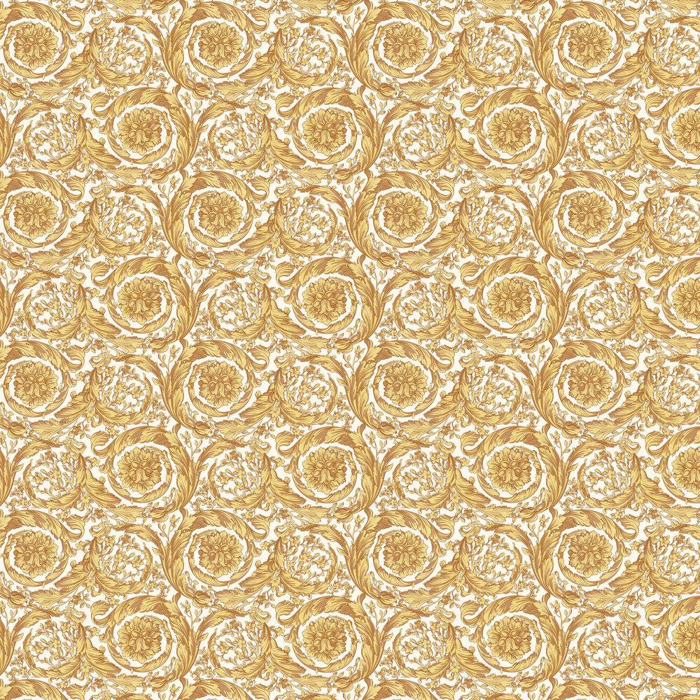 Barocco Wallpaper - Butter Fudge - by Versace