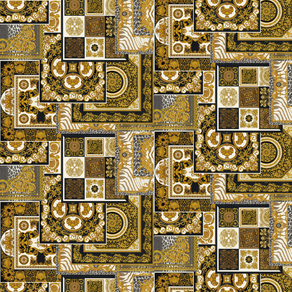 Deconpage Wallpaper - Black and Gold - by Versace