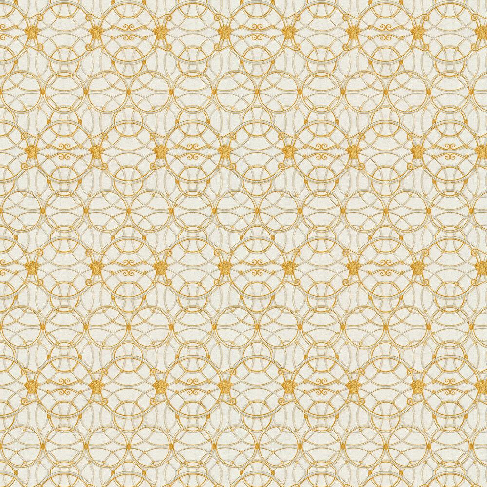 La Scala Del Palazzo Wallpaper - Grey and Gold - by Versace