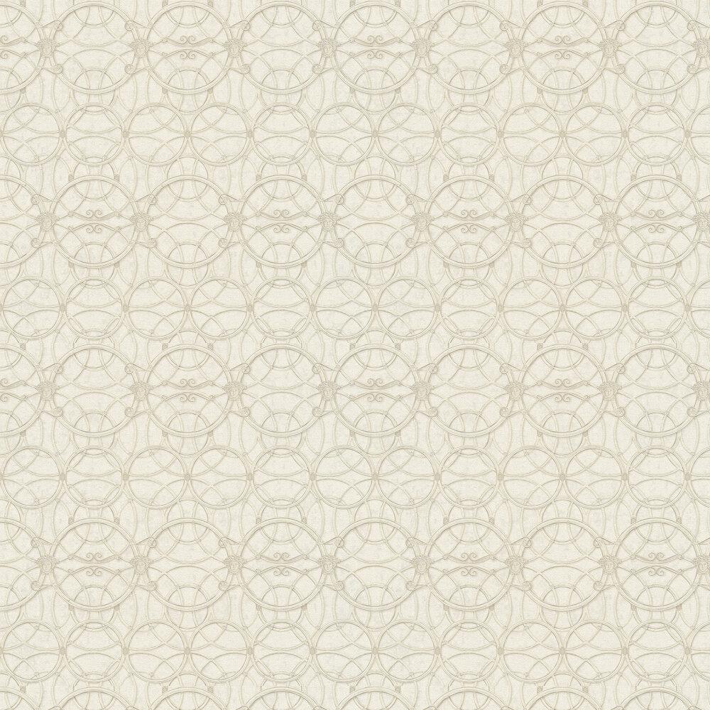 La Scala Del Palazzo Wallpaper - Silver and Cream - by Versace