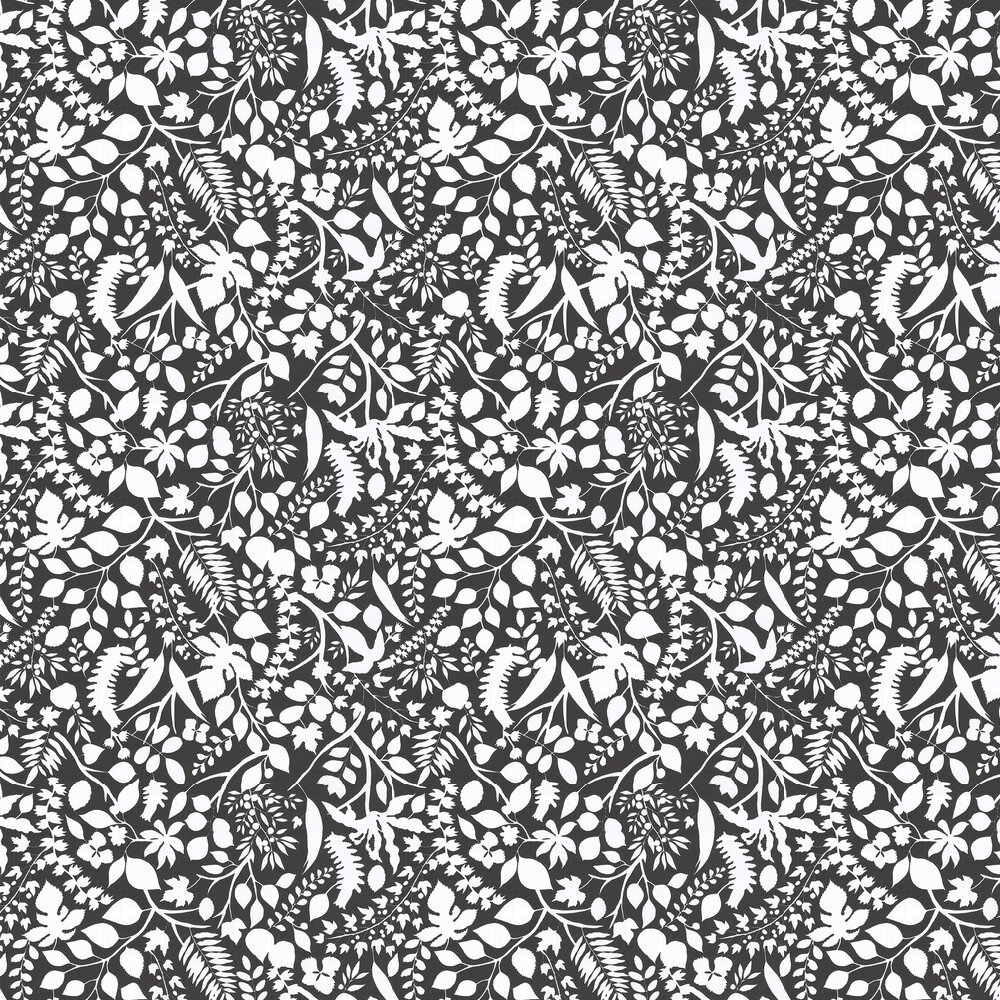 L'eden  Wallpaper - Black and White  - by Christian Lacroix