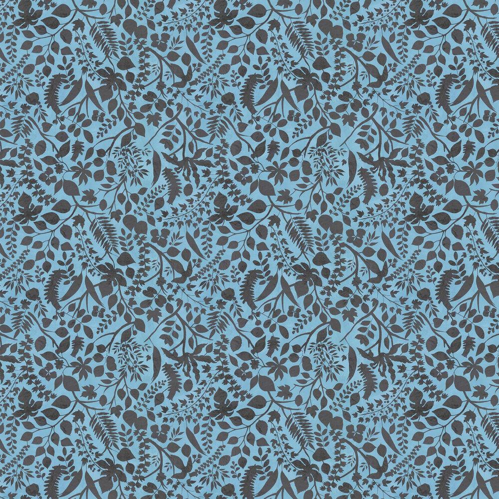 L'eden  Wallpaper - Blue - by Christian Lacroix