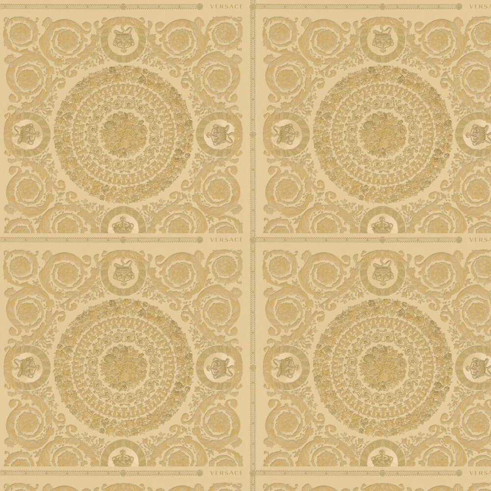 Heritage Wallpaper - Gold - by Versace