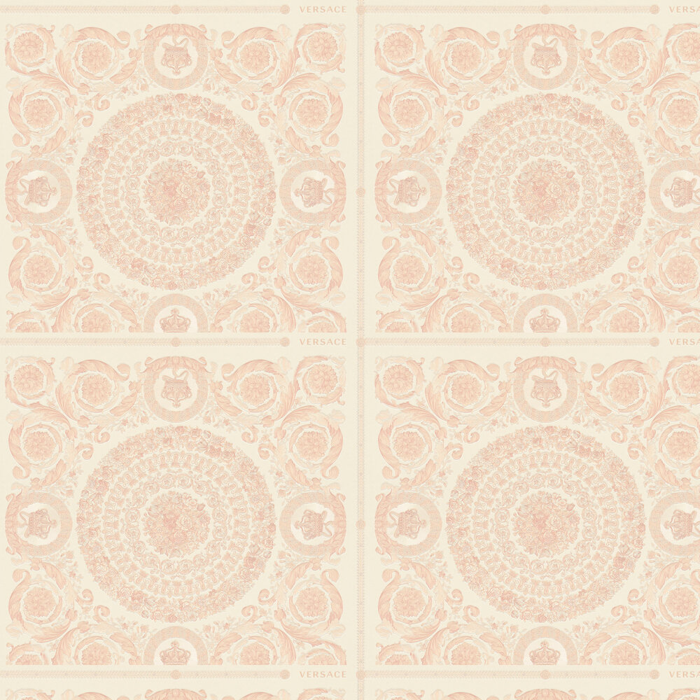 Versace Heritage Coral with Rose Gold Wallpaper - Product code: 37055-6