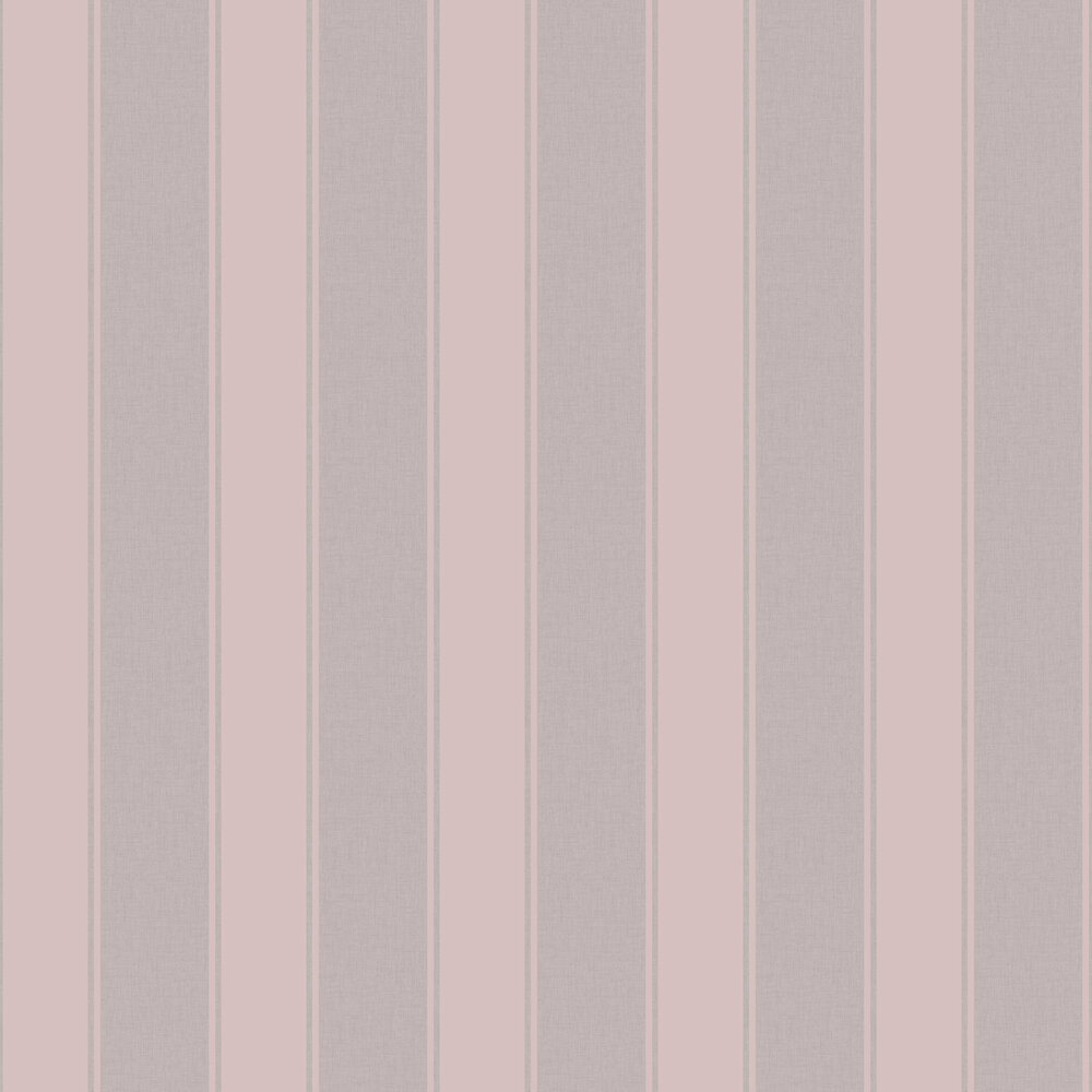 Luxe Stripe Wallpaper - Dusky Rose - by Arthouse