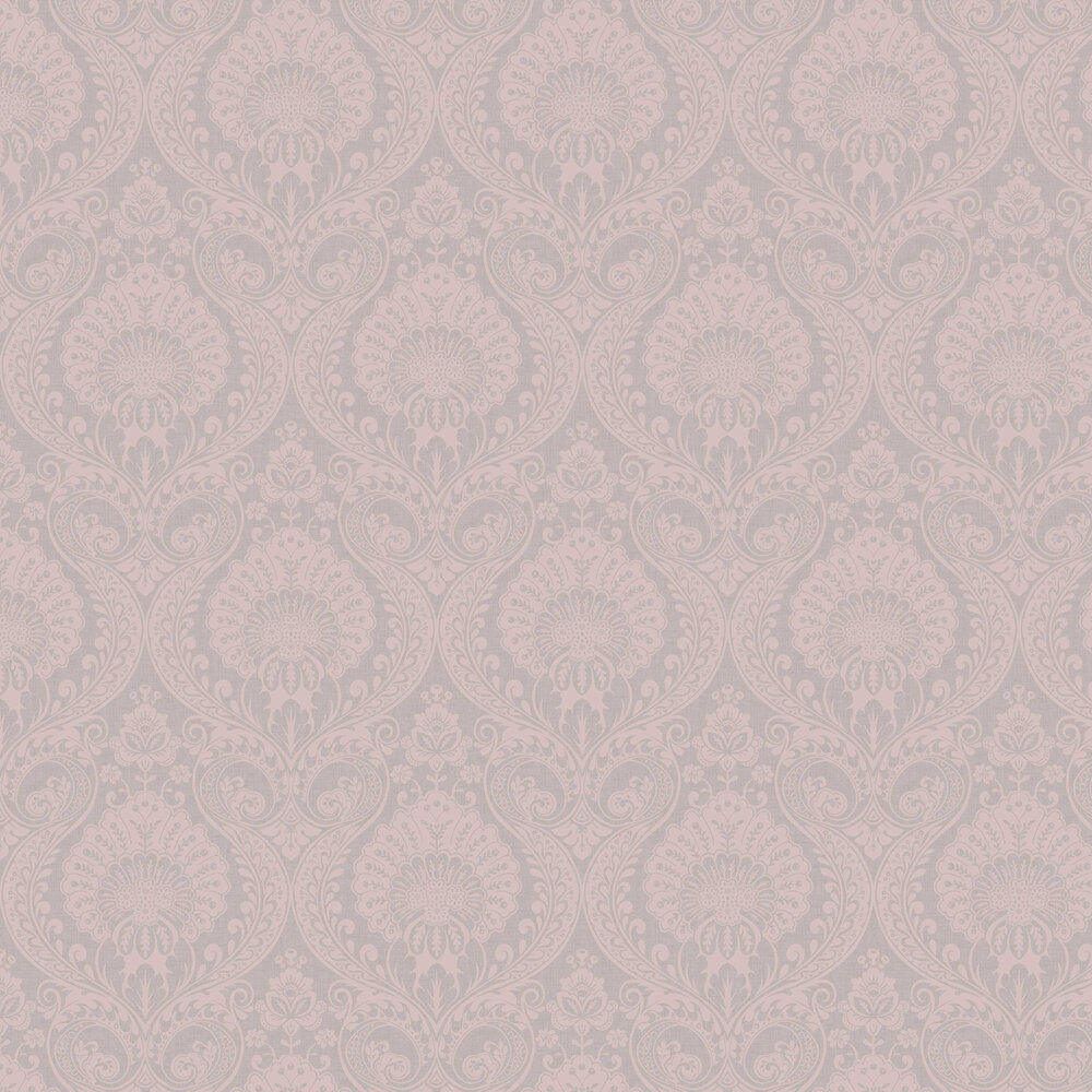 Luxe Damask By Arthouse Dusky Rose Wallpaper Wallpaper Direct