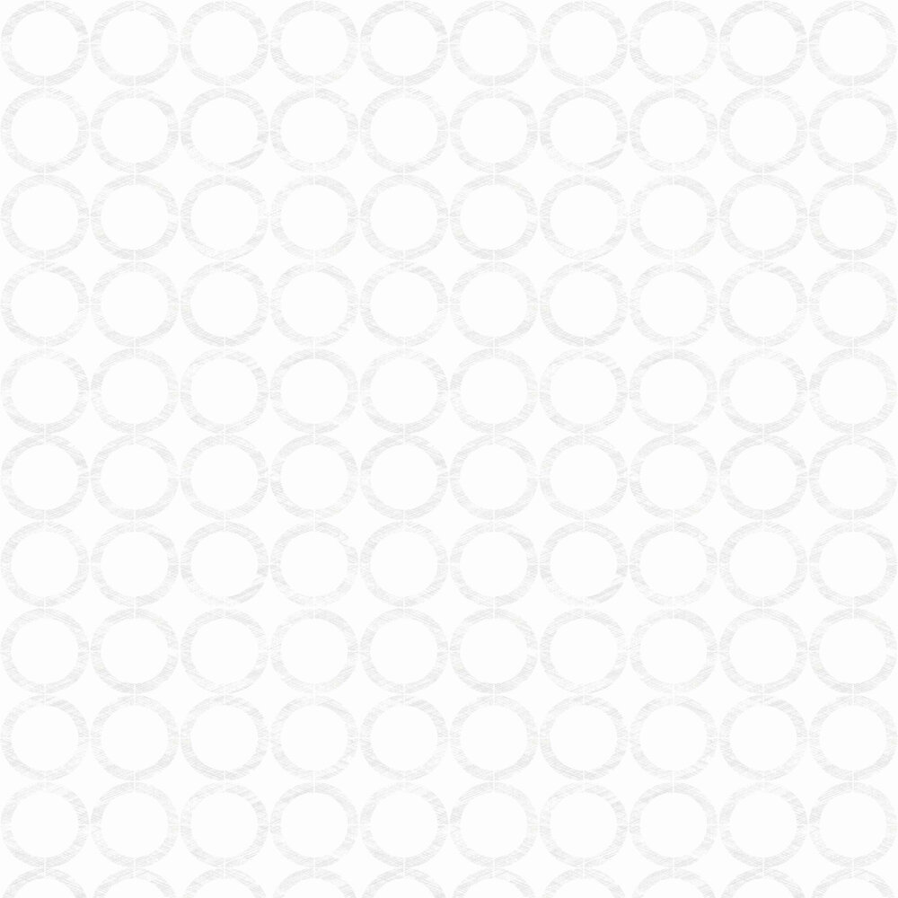 Cercles Wallpaper - White - by Casadeco