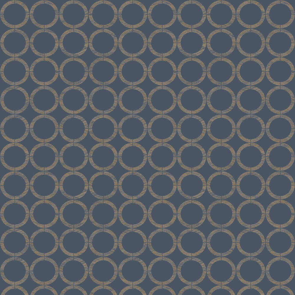 Casadeco Cercles Ink / Curry Wallpaper - Product code: 80606837