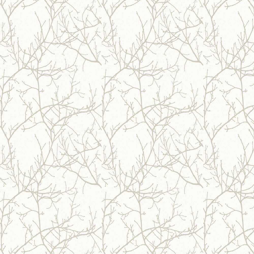 Arbre Wallpaper - Taupe - by Casadeco