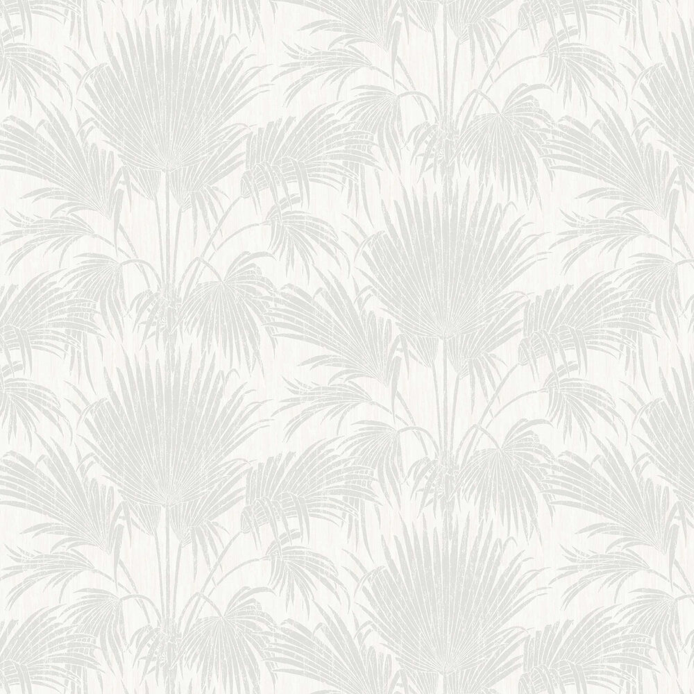 Josephine Foil Wallpaper - Silver - by Casadeco