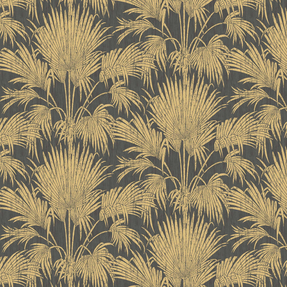 Casadeco Josephine Foil Black / Gold Wallpaper - Product code: 82249502