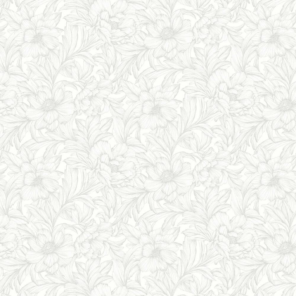 Monceau Wallpaper - Blanc - by Casadeco