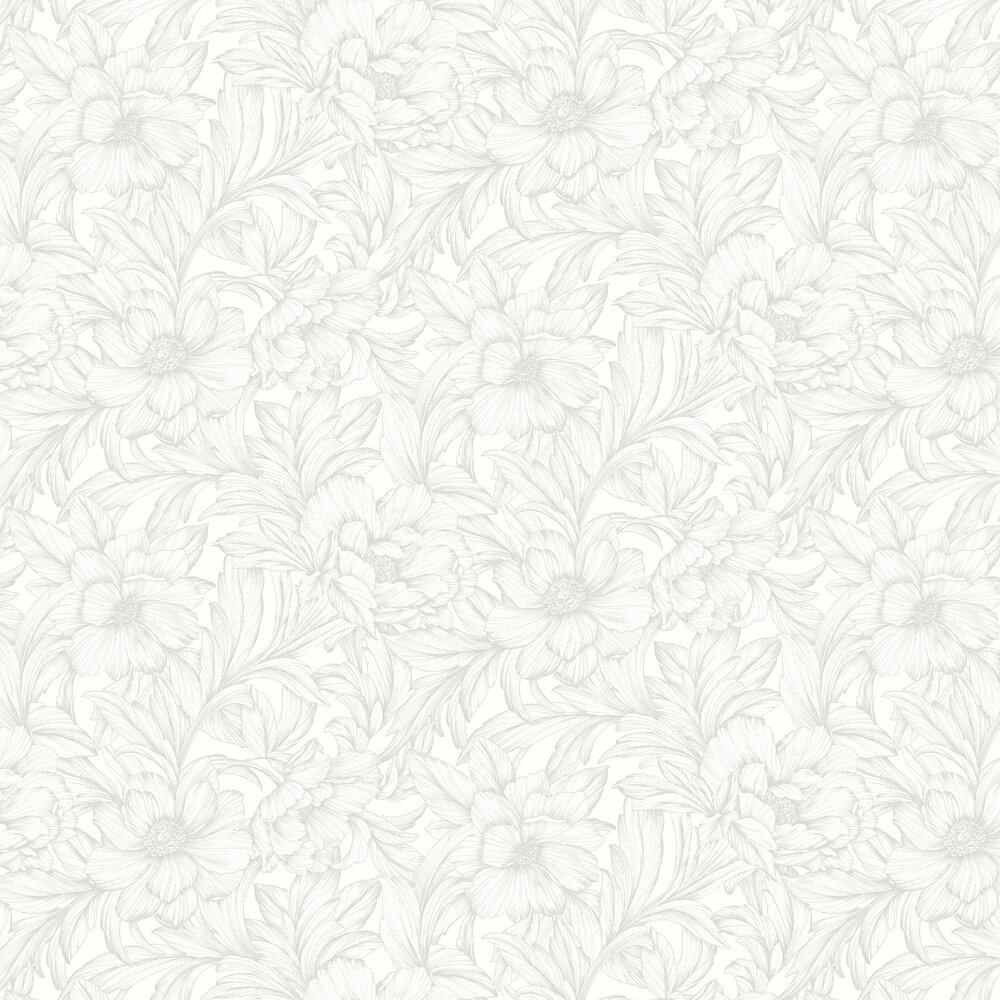 Monceau Wallpaper - White - by Casadeco