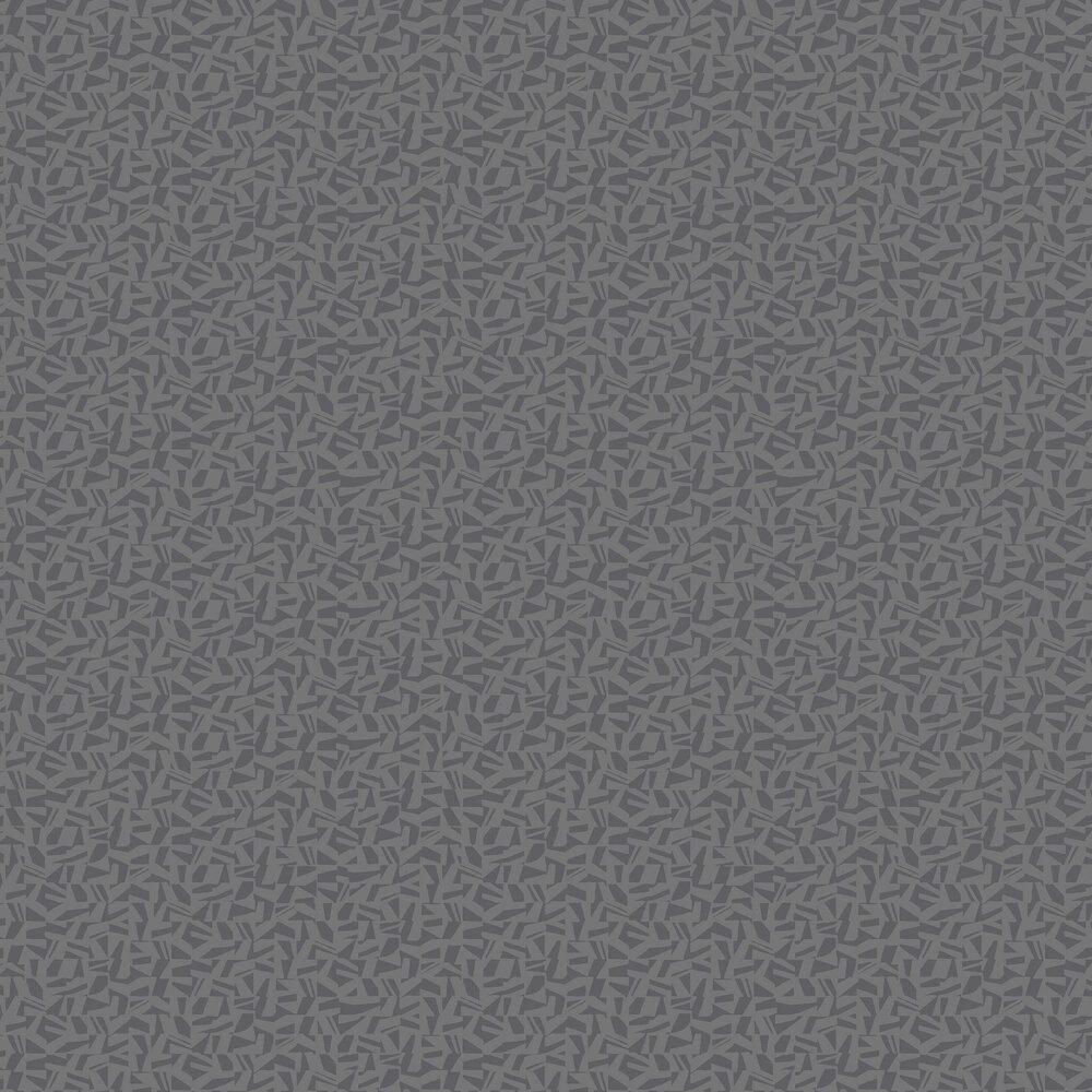 Polygone Wallpaper - Black - by Casadeco