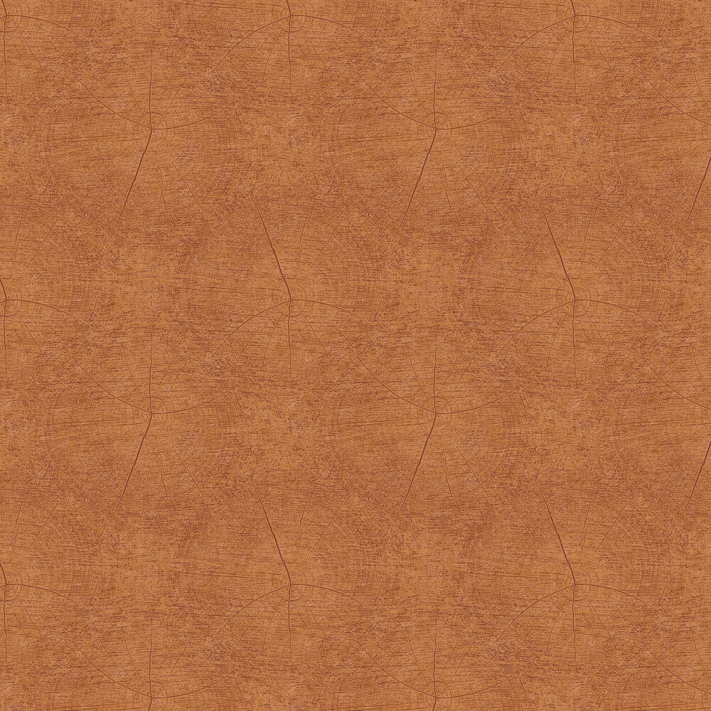 Winter Wallpaper - Orange - by Casadeco