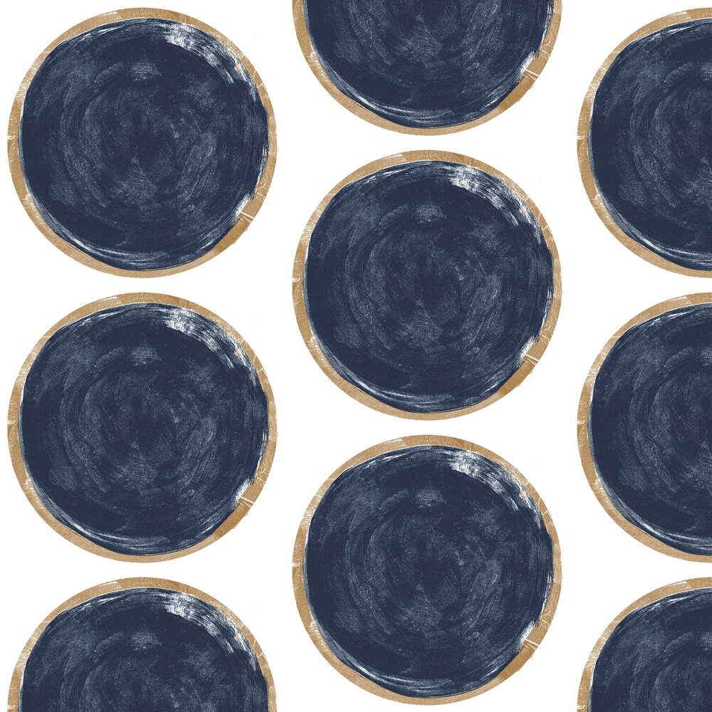 Casadeco Volta Blue / Gold Wallpaper - Product code: 83816506