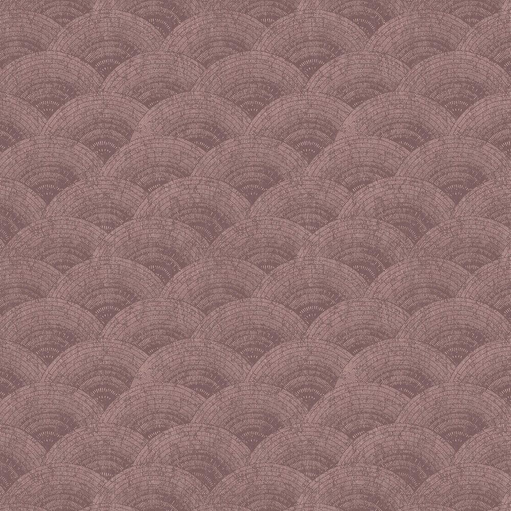Casadeco Walter Foil Bordeaux / Rose Gold Wallpaper - Product code: 84094525