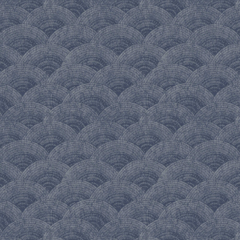 Casadeco Walter Foil Blue / Silver Wallpaper - Product code: 84096505